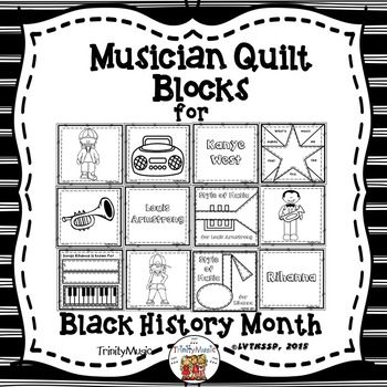 Musician & Performer Quilt Blocks for Black History Month