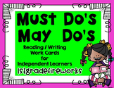 Must Do / May Do Focal Wall Cards ( Editable)