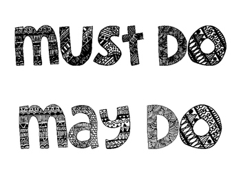 Must Do - May Do Posters