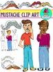 Mustache Clip Art {Mustache Mania ClipArt} I Mustache You
