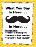 """Mustache"" Confidentiality Poster"