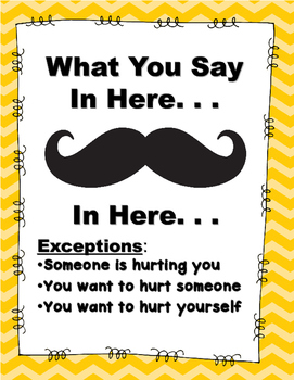 """""""Mustache"""" Confidentiality Poster"""