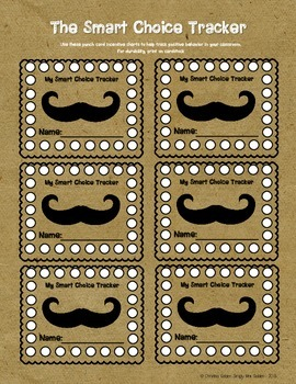 Mustache Incentive Cards