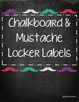 Mustache Locker Tags