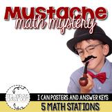Math Centers Second Grade: Mustache Mystery