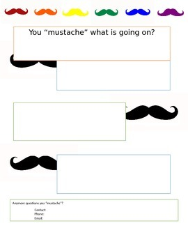 "Mustache Newsletter ""You mustache what is going on?"""