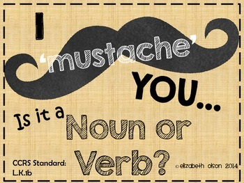 Mustache Noun or Verb Game