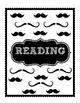 Mustache Pattern Teacher Binder Labels
