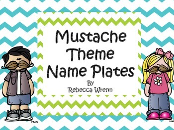 Mustache Theme Name Plates