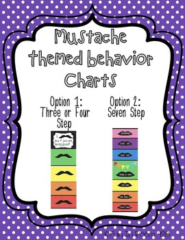 Mustache Themed Behavior Charts - Two options