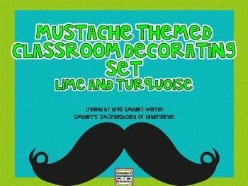 Mustache Themed Classroom Decorating Set!