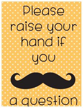 Mustache a question- Poster Orange