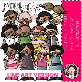 Mustache You by Melonheadz LINE ART