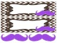 Mustaches on Brown Chevron Nameplates with bonus mustaches