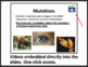 Mutations and Mutagens - Biology PowerPoint Lesson & Stude