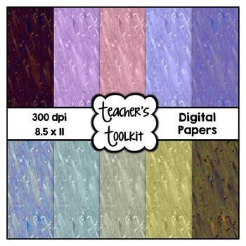 Muted Brush Strokes Digital Background Papers {8.5 x 11} C