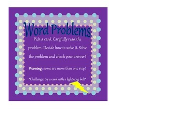 Mutliplication Word Problems - multi-digit times one digit