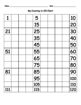 My 120 Chart Practice