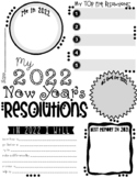 My 2016 New Year's Resolution Activity Poster Freebie