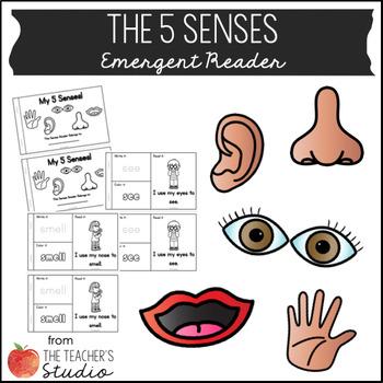 My 5 Senses Emergent Reader!