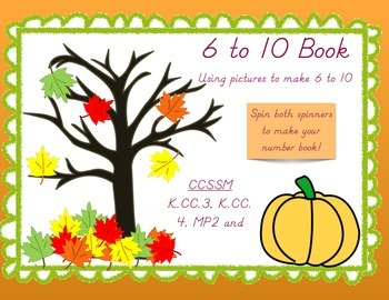 Counting and Cardinality Book - Standard and Fall Themed