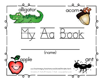 My Aa Book {trace & write book}