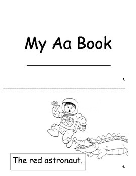 My Aa book sight words