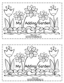 My Adding Garden-math emergent reader for Kindergarten