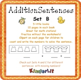 My Addition Number Sentences - Set B