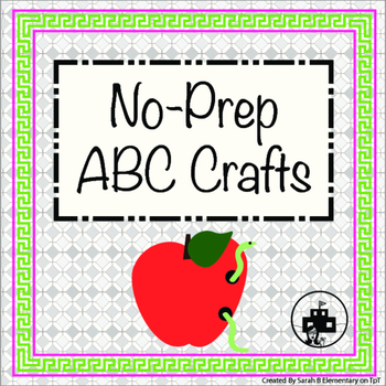 Alphabet Craft Book FREE ( Letters A,B, and  C)
