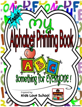 My Alphabet Printing Book-ENGLISH Version with Flashcards
