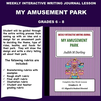 Interactive Weekly Writing Notebook Lesson - My Amusement
