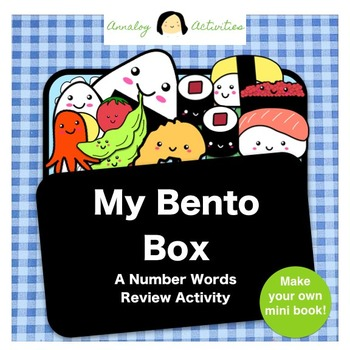 My Bento Box: A Number Words Review Activity (Printable Mi