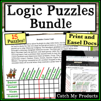 Logic Puzzles BUNDLE for Gifted and Talented or Bright Students