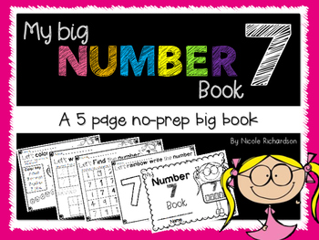 My Big NUMBER 7 Book~ NO-PREP