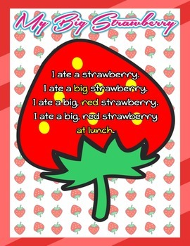 My Big Strawberry Adjective Poster