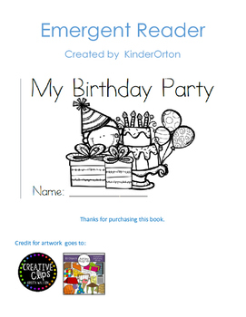 My Birthday Party - Emergent Reader