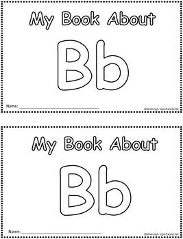 My Book About Bb     Little Emergent Reader