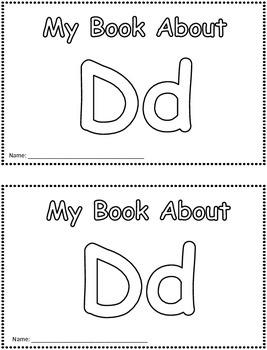 My Book About Dd     Little Emergent Reader