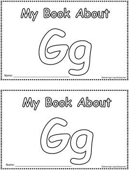 My Book About Gg     Little Emergent Reader
