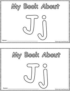 My Book About Jj     Little Emergent Reader