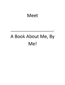 My Book About Me Fourth Grade Introductory Project