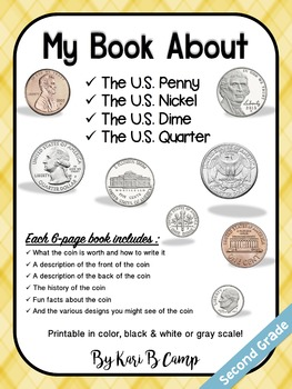 My Book About U.S. Coins (penny, nickel, dime, quarter)