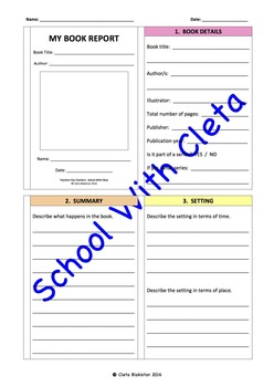 My Book / Story Report - Suitable For All Ages & A Lapbook