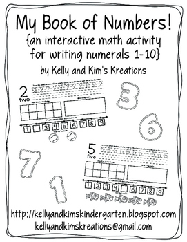 My Book of Numbers! {an interactive math activity for writ