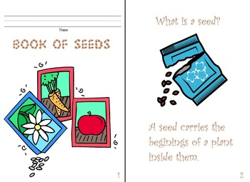 My Book of Seeds:  Spring, Gardening, Planting