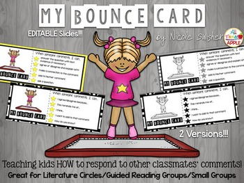 My Bounce Cards: Learning to BOUNCE off Students' Comments