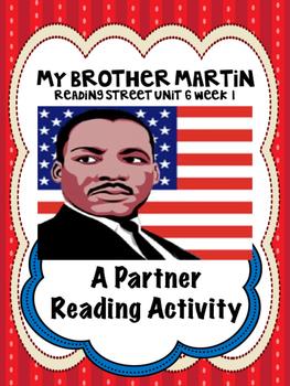 My Brother Martin  Reading Street 4th Grade partner readin