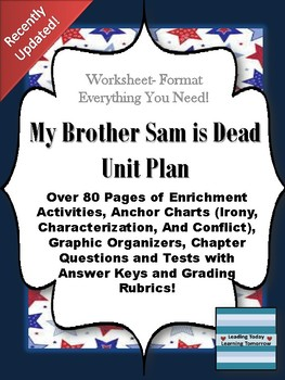 My Brother Sam is Dead Unit Plan- EVERYTHING you need!