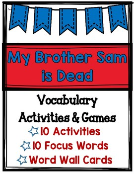 My Brother Sam is Dead Vocabulary Activities & Games (Revo